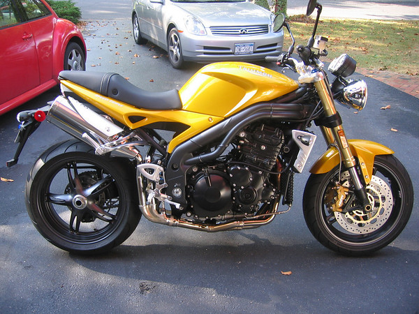 My Speed Triple the first day i brought it home - September 2005