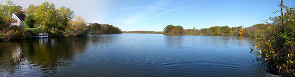 Peconic Lake from Dam Rd - Long Island New York