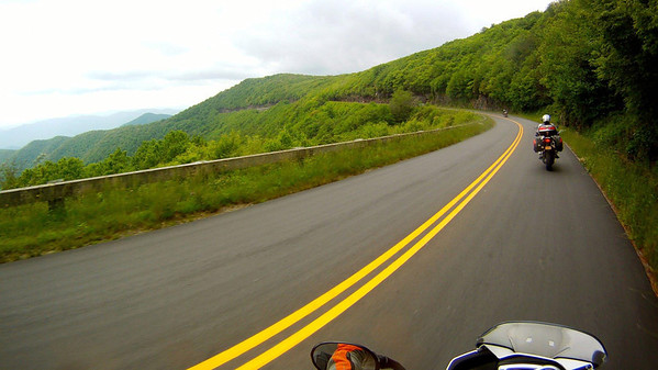 Riding the Blue Ridge Parkway