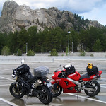 Motorcycles at Mount Rushmore
