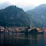 The view from the ferry Bellagio to Verenna