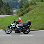 Kenny heading in to Wassen Switzerland