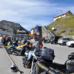 Kenny parked atop stelvio pass