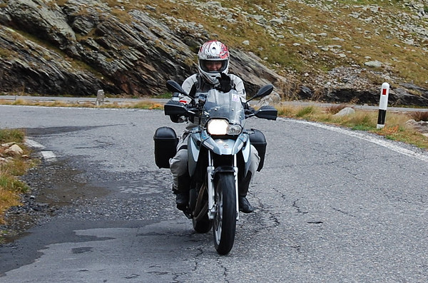 Me - Riding up Gavia Pass - Photo by Pimmie