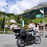 Bikes parked in Splugen Switzerland