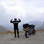 Pimmie conquers the Neufenen Pass in Switzerland