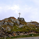 Cross at the top of the Grimsel Pass