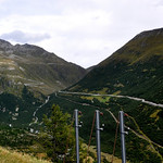 a view of the Furka Pass from Grimsel pass