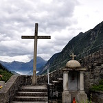 Church Cross in Wassen Switzerland