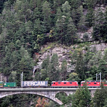 train in Wassen Switzerland