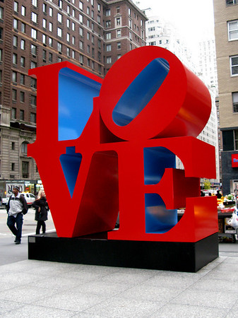 Robert Indiana Love Sculpture NYC