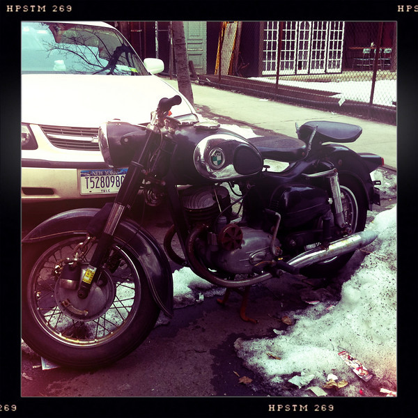 Puch twingle Motorcycle in parked New York City