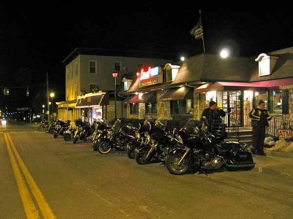 Crotona Midnight Run - Bikes at the Carmel Diner
