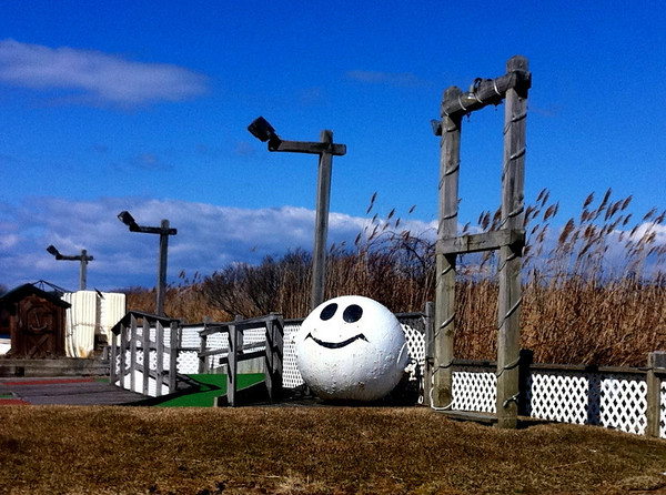 Smiley Bouy in Montauk