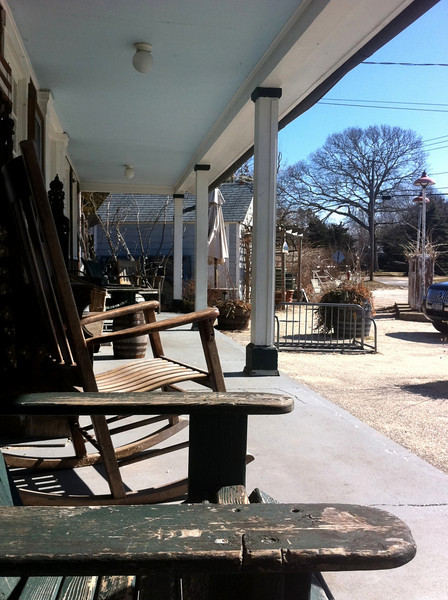 The porch of Springs General Store