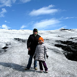 Me and Chloe Solheimajokull Glacier Tongue Iceland