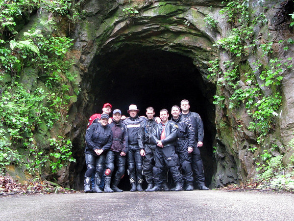 The gang outside of the Nada Tunnel in the Daniel Boone National Forest, Kentucky