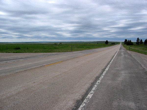 loooong stretch of road in wyoming
