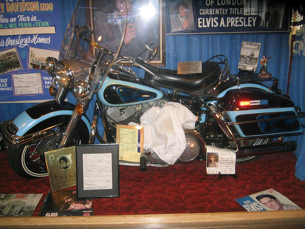 Elvis' motorcycle at Pioneer Auto in Murdo South Dakota