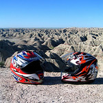 Helmets at Badlands National PArk South dakota