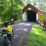 Triumph Speed Triple and Covered Bridge