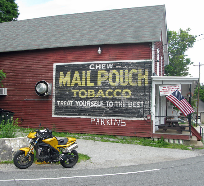 Mail Pouch Tobacco Sign on the Layton Country Store in New Jersey