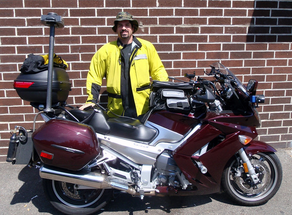 Catfish and his 2009 Iron Butt Rally Yamaha FJR