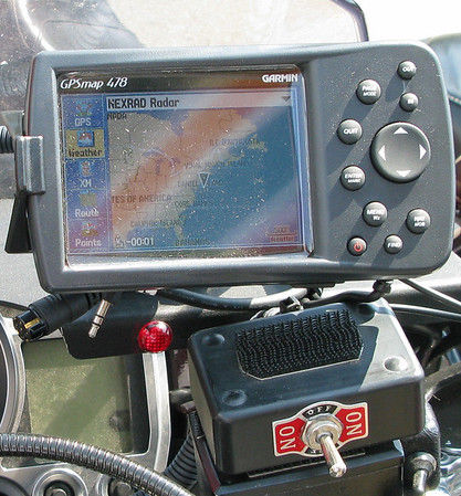 GPS Nexrad radar on the IBR09 Catfish Iron Butt Rally FJR