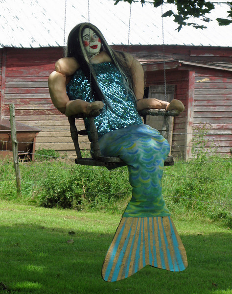 Mermaid Roadside Art found near Great Barrington Massachusetts