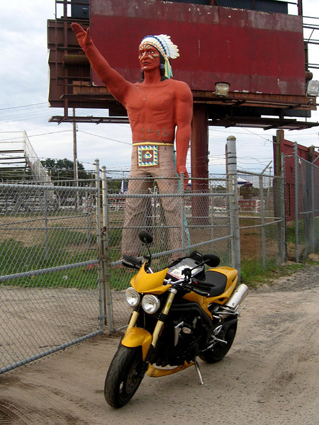 Riverhead Long Island Muffler Man Indian