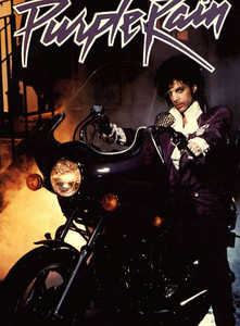 Prince on his Purple Rain Bike