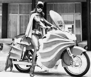 Batgirl on her Batbike