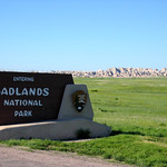 Welcome to the Badlands National Park Sign - South Dakota
