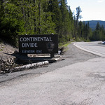 Continental Divide Sign from Yellowstone National Park