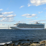 Cruise Ship Docked in Newport Harbor
