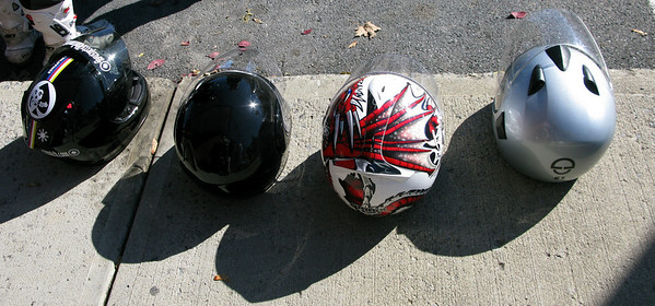 Helmets on the Suspects Ride