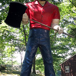 Muffler Man Boy Scout Bunyan Stony Point NY