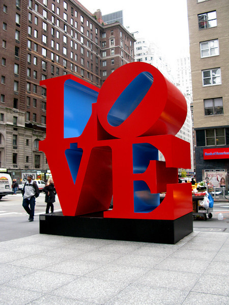 Robert Indiana in NYC