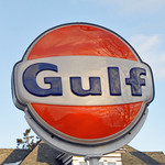 Gulf Sign - Dunkle's Gulf Lincoln Highway Bedford, Pa.
