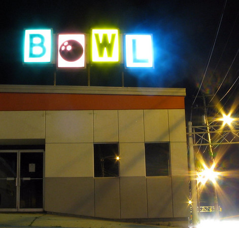 Rutland Vermont Bowling Alley Sign