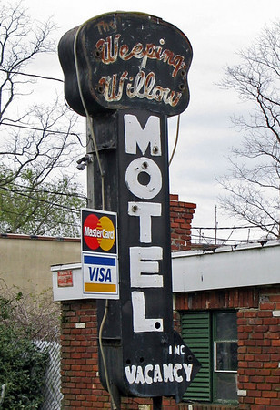 Vintage Sign The Weeping Willow Motel Long Island