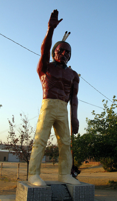 Muffler Man Bakersfield California Indian
