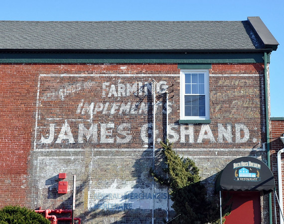 Faded Mural James G. Shand Patchogue New York