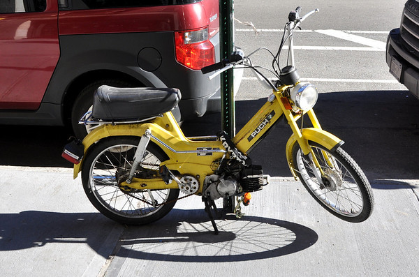 Yellow Puch Moped New York City