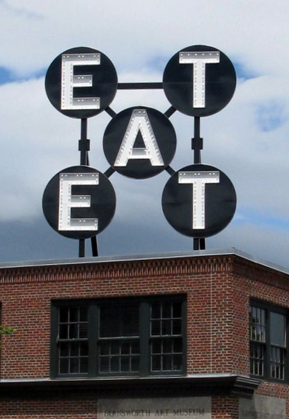 Robert Indiana Eat Sculpture