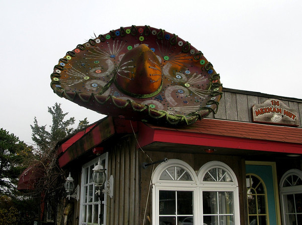 Rooftop Sombrero Mexican Hut Westhampton Beach