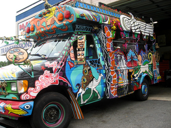 Psychedelic Bus from Rob Thomas Someday Video