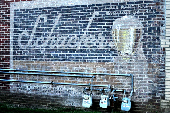 Schaefer Beer Fading Wall Mural Bay Shore RoadsideGalore