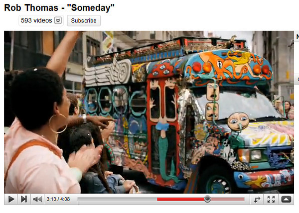 Psychedelic Bus Rob Thomas Someday