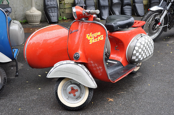 Vespa Scooter Taxi with Sidecar